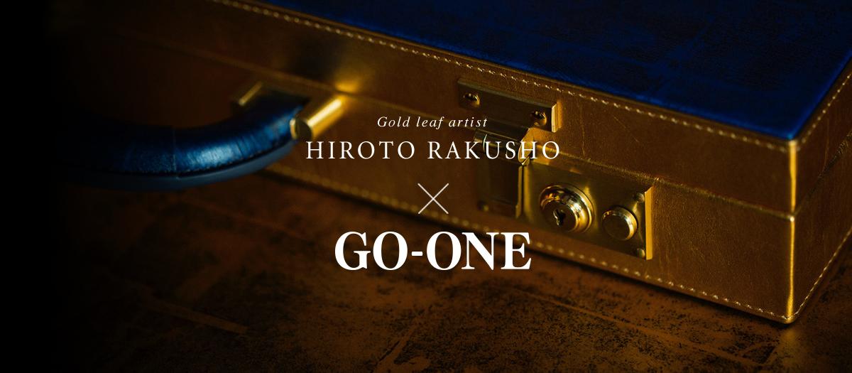 Gold leaf artist HIROTO RAKUSHO x GO-ONE